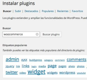 Descargar plugin WooCommerce a WordPress
