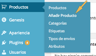 Añadir producto a Woocommerce