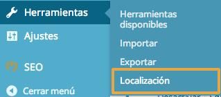 Panel configuracion Codestyling Localization WooCommerce