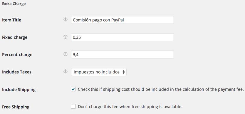 Aplicar comisión Paypal en WooCommerce