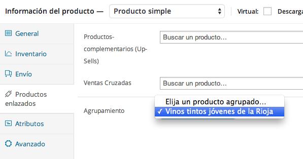 Agregar productos agrupados en WooCommerce