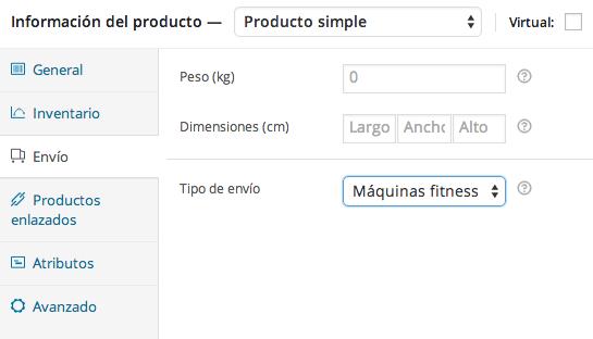 Aplicar clase de envío a producto WooCommerce