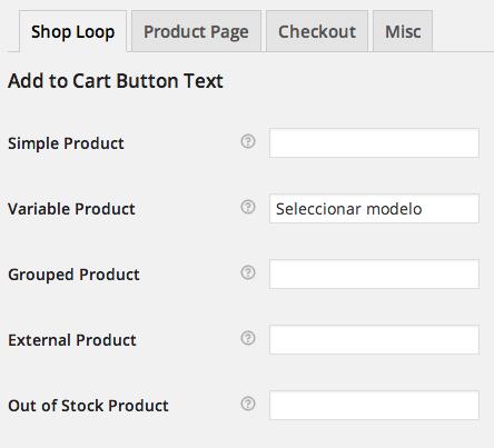 Modificar texto de los botones de compra para los productos variables en WooCommerce