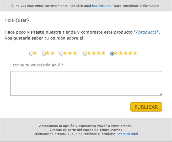 Aumentar valoraciones clientes en WooCommerce a través de email