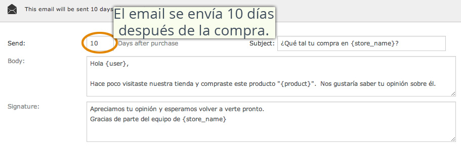 Enviar email para conseguir valoración de productos en WooCommerce