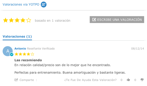 Mostrar valoraciones de clientes en WooCommerce con Yotpo