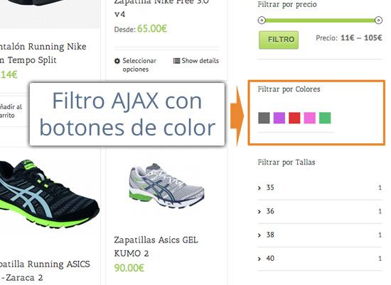 Buscar productos por colores en WooCommerce