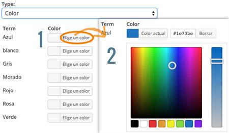 Configurar filtro de colores en WooCommerce