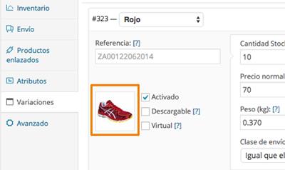 Configurar imágenes diferentes para variaciones de productos en WooCommerce