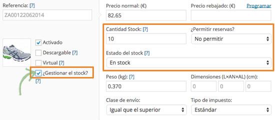 Gestión de stock de variaciones de productos con WooCommerce