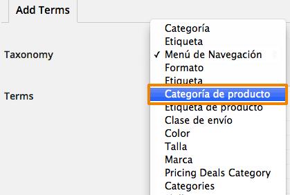 Crear muchas categorías de productos a la vez en WooCommerce