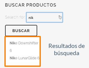 Resultados búsqueda rápida de productos WooCommerce