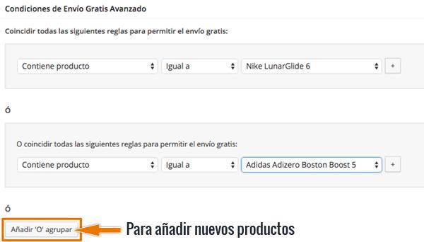 Configurar envío gratis para algunos productos WooCommerce