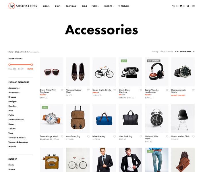Plantilla premium Shopkeeper WooCommerce