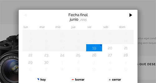 Calendario reservas WooCommerce