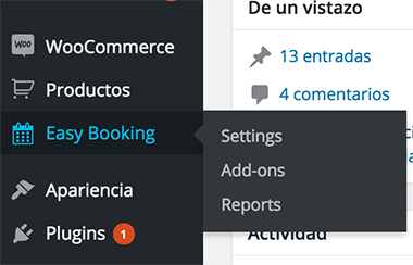 Plugin reservas WooCommerce