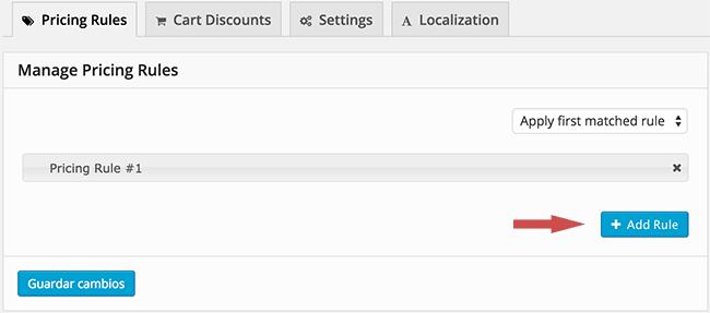 Crear reglas de precio para descuento en WooCommerce