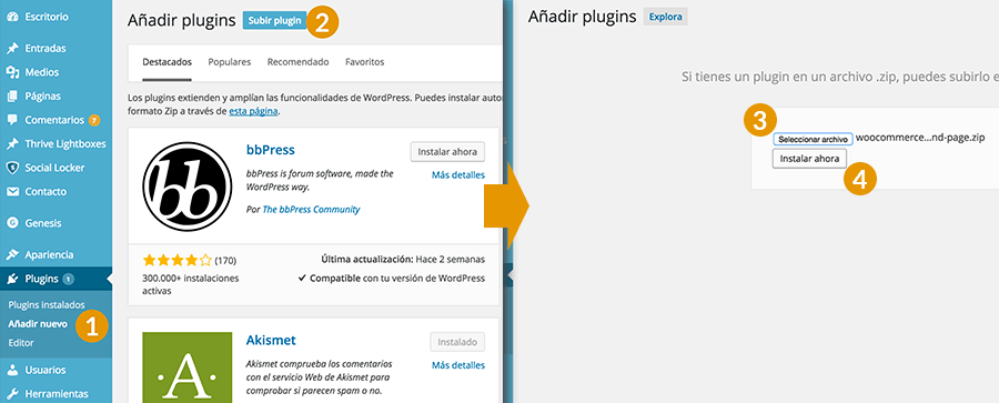Instalar plugin WooCommerce Beautiful Product Not Found Page