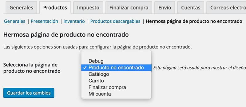 Sustituir página por defecto de WooCommerce para producto no encontrado
