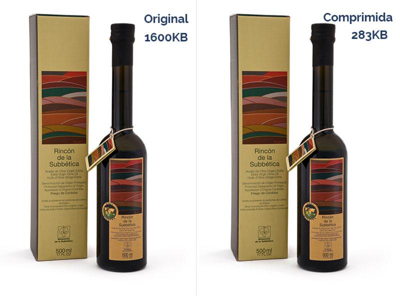 Comparativa fotos de producto tienda online comprimida
