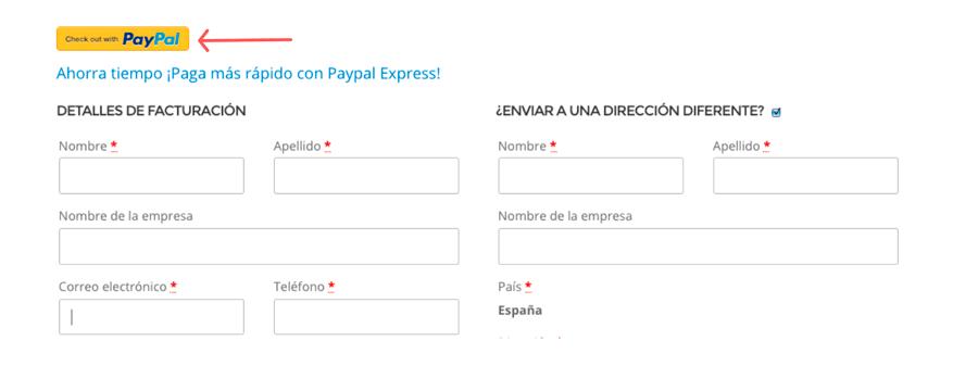 botón pagar con paypal checkout