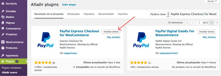 paypal express para woocommerce plugin