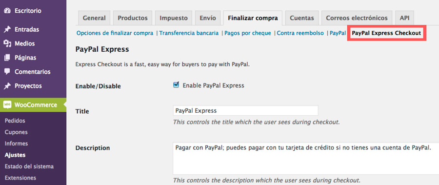 plugin paypal checkout para woocommerce