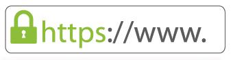 Candado verde en tienda online con https
